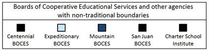 2011-12 Boards of Cooperative Educational Services and other agencies with non-traditional boundaries legend