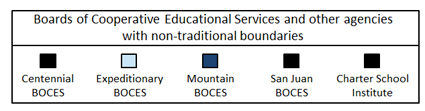 Boards of Cooperative Educational Services and other agencies with non-traditional boundaries legend