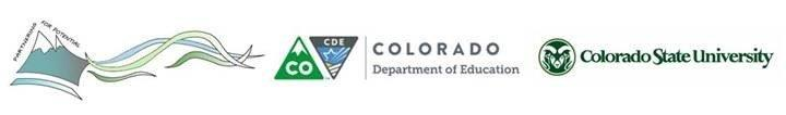 Partnering for Potential, Colorado Department of Education & Colorado State University logos