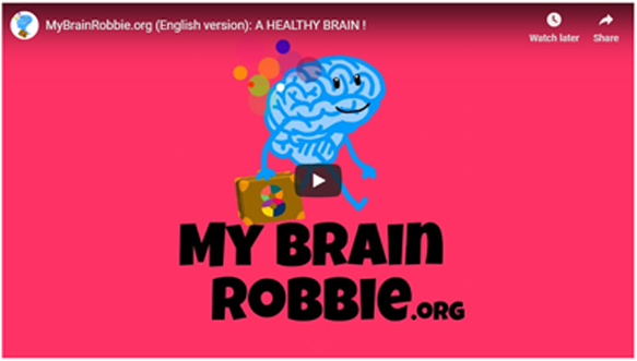 Screenshot of video from MyBrainRobbie.org.