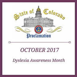 State Proclamation - Dyslexia Awareness Month image