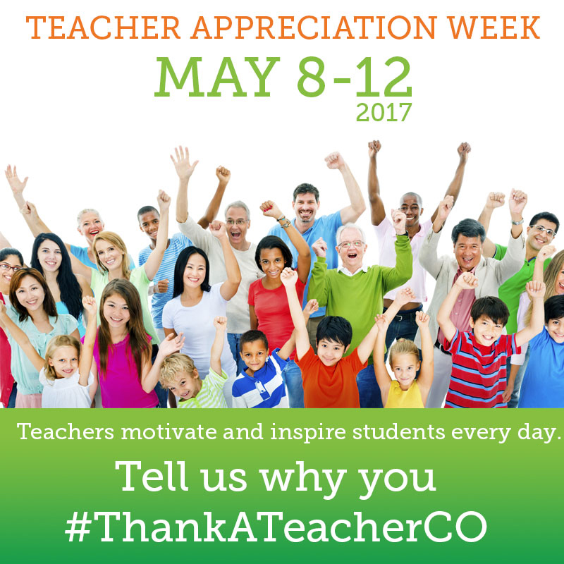 Thank a Teacher Colorado 2017 Social Media Image