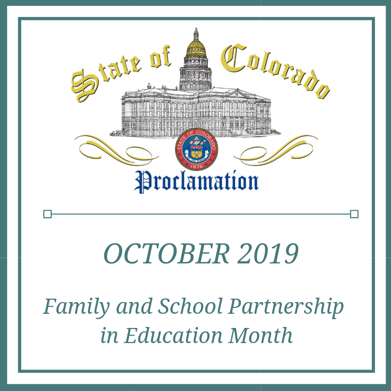 October - Family and School Partnership in Ed Month