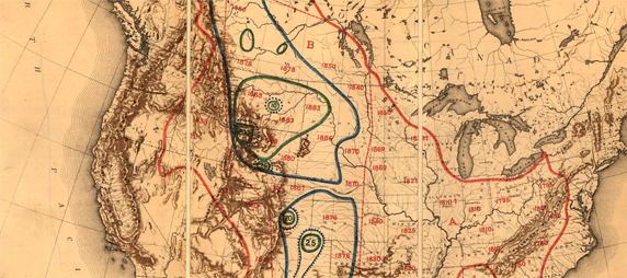 Map Illustrating the Extermination of the American Bison