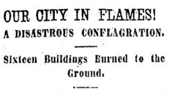 Newspaper Article of Fire, Clara Brown's House