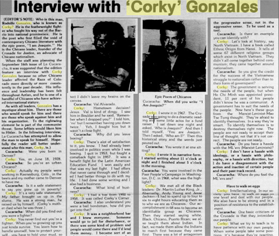 Interview with Corky Gonzales, September 5, 1977
