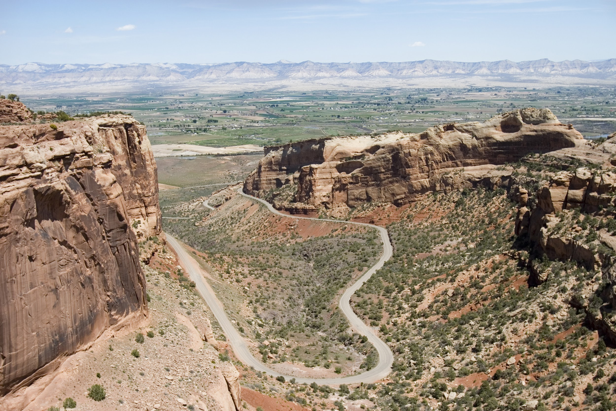 This image shows part of the Grand Mesa and part of Colorado National Monument