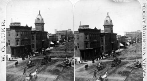 Harrison Avenue in Leadville, 1884