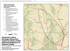 Map of Mexican Land Grants in the San Luis Valley
