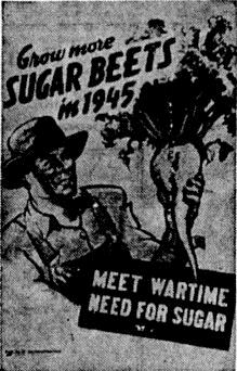 Grow More Sugar Beets Poster, 1945