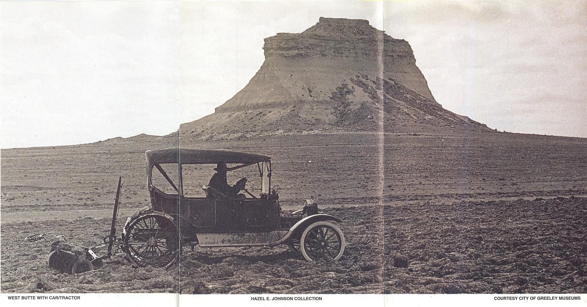 West Butte with Car/Tractor