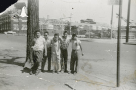 Friends in the Auraria neighborhood, 1955.