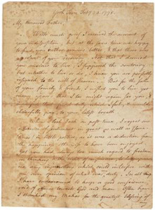 A patriot's letter to his loyalist father