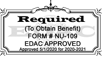 edac approval stamp for annual renewal of ffvp applications