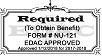 EDAC Stamp - NU-122 CEP Request Form