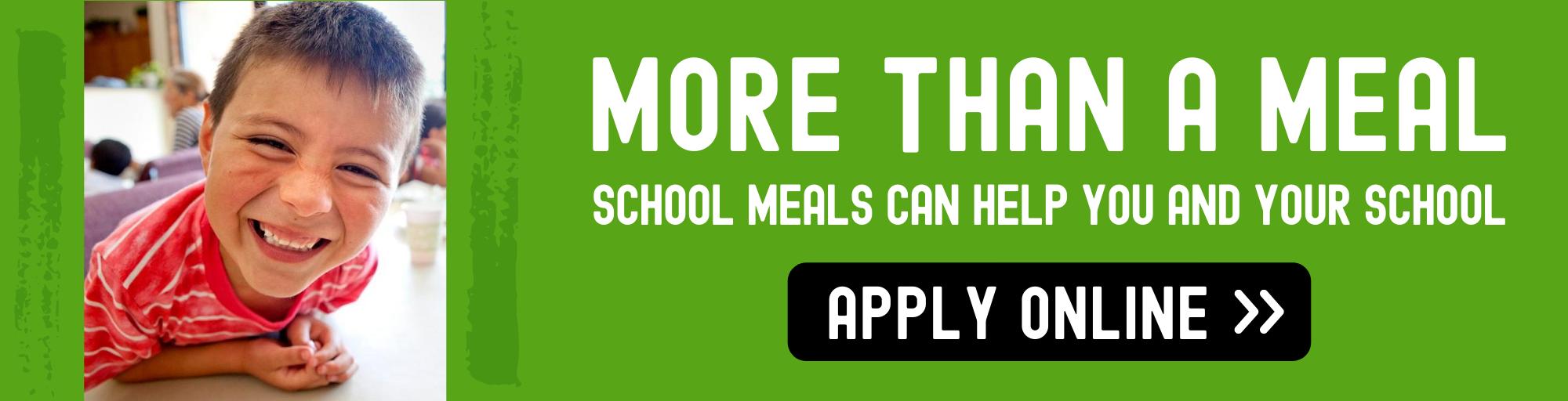 school meals banner