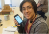 photo of student holding a phone