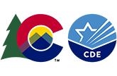 Colorado State Logo and Colorado Department of Education emblem