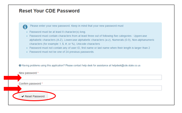C  LACES User Account Set Up and Password Reset | CDE
