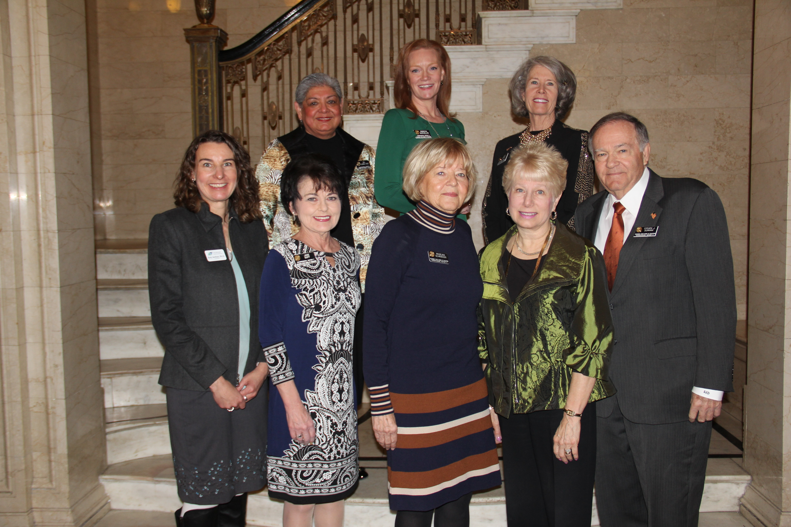 State Board of Education members with Commissioner Anthes