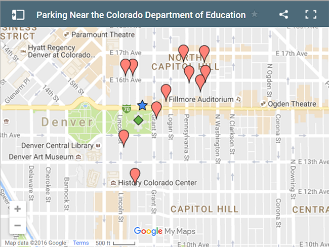 Parking Near The Colorado Department Of Education Link To Google Map