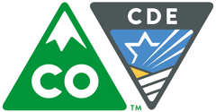 State of Colorado and Colorado Department of Education shield logo