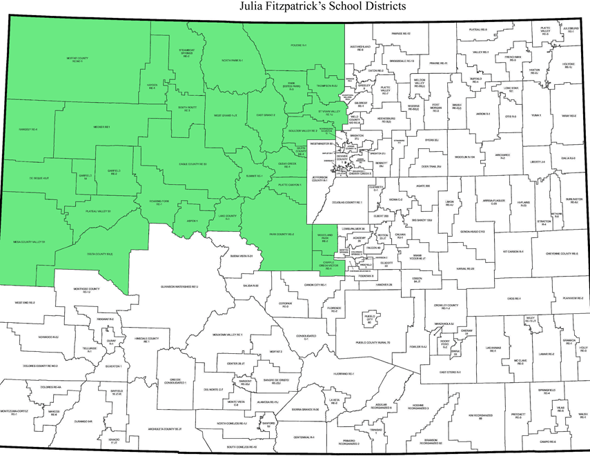Northwest Region of Colorado Districts