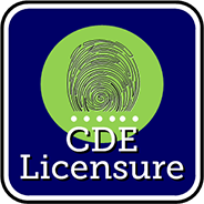 Fingerprints for CDE licensure
