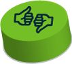 icon depicting thumbs up and thumbs down