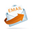Email Icon - Orange Lettering