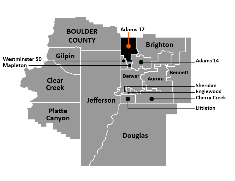 Map of Adams 12 School District