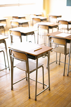 Image of empty desks