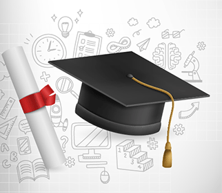 Image for ICAP and GG Support page - cap and diploma cropped