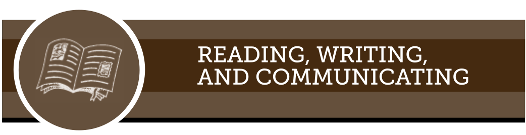 Web banner for reading, writing, and communicating