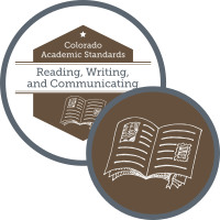 Graphic for academic standards for reading, writing, and communicating