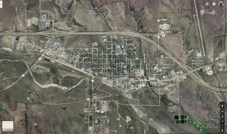 Satellite map of Limon, CO