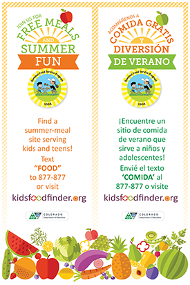 Bilingual: Join us for free meals and summer fun, Summer Food Service Program USDA