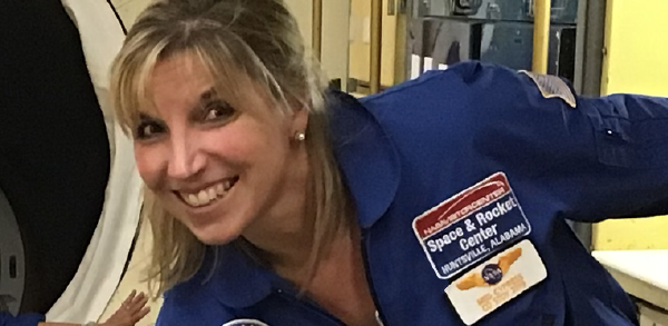 Photo of Teacher of the Year 2019 Meg Cypress at Space Camp