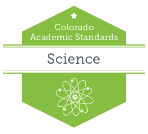 Graphic to represent Colorado Academic Standards science content area